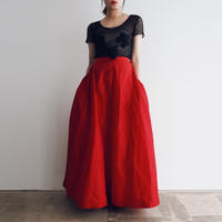 1950s Elizabeth Arden Satin Skirt