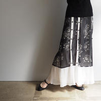 vintage Floral Pleated Skirt