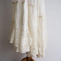 Antique  Patchworked Lace Skirt