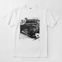 pinewaves / Logic System × 河村康輔    シンセ・コラージュTシャツ(ホワイト)