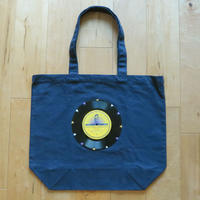 本物のレコードを使ったバッグ「bagu」L 大きめトートバッグ ミッドナイトブルー TOL-009NV