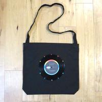 本物のレコードを使ったショルダーバッグ「bagu」ブラック ST001-B008
