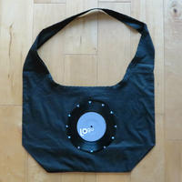 本物のレコードを使ったバッグ  「bagu」ショルダーバッグ ブラック SB-006BK