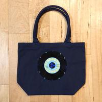 本物のレコードを使ったバッグ「bagu」キャンバストート ネイビー