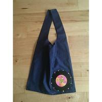 本物のレコードを使ったバッグ 「bagu」 cotton marche bag Navy