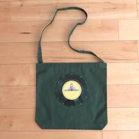 本物のレコードを使ったショルダーバッグ 斜め掛けバッグ「bagu」ダークグリーン  ST-009GRN