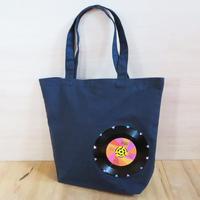 本物のレコードを使ったバッグ「bagu」ML ネイビー