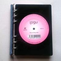 本物のレコードでできたノート  アップサイクル(UP cycle)  RN-004D