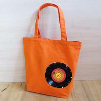 本物のレコードを使ったバッグ「bagu」ML  オレンジ