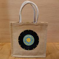 本物のレコードを使ったジュートバッグ「bagu」ブルー JU-101NABL