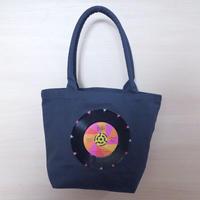 ガーデントートバッグ「bagu」本物のレコード ネイビー GT-102NP