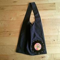 本物のレコードを使ったバッグ 「bagu」 cotton marche bag Navy MR-102NVP