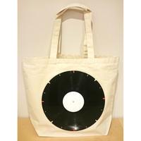 本物のレコードを使ったバッグ 「bagu」canvas tote L natural