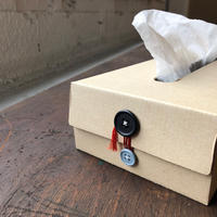BUTTON TISSUE BOX