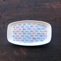 Pool Pottery / Basket pattern dish