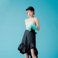 【ポスト便】イレヘムフリルスカート black