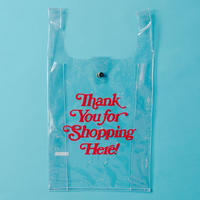 【通常配送】PVC shoppingbag  ・ red