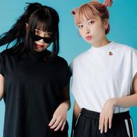 【ポスト便】チェリーノースリーブ Tシャツ black・white