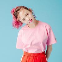 """""""飴玉包丁""""Tシャツ pink"""