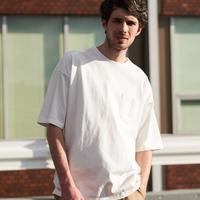 ヘビーウェイト BIGシルエット 半袖ポケットTシャツ   6color