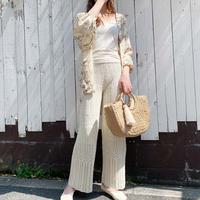 透かし編みイージーパンツ 4color