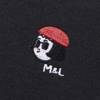 LEON&MATHILDA刺繍ポイントトレーナー ユニセックス  ミニロゴver