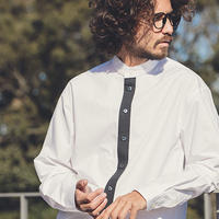 【ANGENEHM(アンゲネーム)】Placket Switch Typewriter Long Length Shirts(MADE IN JAPAN) シャツ