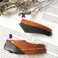leather barrette