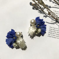 dry flower  pierce  earring