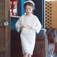韓国子供服 キッズ ホワイト レース ワンピース プリンセス ドレス カジュアル ベーシック 韓国子供服 子供服 キッズ ジュニア 女の子 送料無料 TAGX12037