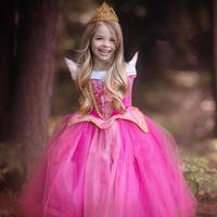 オーロラ姫風ドレス キッズ プリンセスドレス ピンク ブルー 衣装 子供 女の子 子ども コスプレ なりきり 仮装 コスチューム オーロラドレス お姫様 TDL 発表会 誕生会 TAGX12050