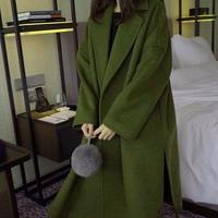 コート その他コート ロングコート 襟付き 大きいサイズ ウール ロング丈 アウター スリット入り 20代 30代 40代 50代 ゆったりサイズ ロングアウター TAGX10829