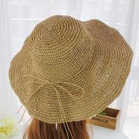 レディース 麦わらハット 帽子 夏 ハット UVカット UV帽子 UV ハット 日焼け止め UV対策 紫外線カット 紫外線対策 ライトベージュ ブラウン 送料無料 通勤 通学 TAGX11030