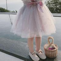 子ども服 スカート 女の子 子供ドレス チュール スカート チュチュ プリンセス 星柄 80cm-130cm ピンク グリーン 発表会 結婚式 普段着 入園 入学 送料無料 TAGX11973