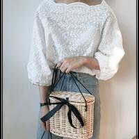 トップス ブラウス シャツ カットソー レディース ボートネック ドルマン ボリューム袖 刺繍 シンプル かわいい ホワイト 白 春 夏 20代 30代 40代 韓国 送料無料 TAGX12106
