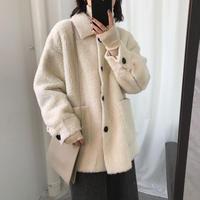 冬新商品 暖かいボアジャケット ジャケット アウター ブルゾン ジャンパー コート レディース羊毛 ボア生地 コート オーバーサイズ ゆったり もこもこ 韓国 送料無料 TAGX11871