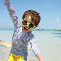 キッズ 子ども服 子ども水着 水泳用品 ラッシュガード スポーツ マリンスポーツ 子供水着 キッズ水着 3点セット パンツ 帽子 男の子 ジュニア 星柄 帽子付き TAGX11022