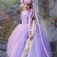 ラプンツェル風 キッズ 女の子 ドレスプリンセス 風 ドレス プリンセスなりきり 子供 ドレス キッズ 子ども お姫様 ワンピース お姫様ドレス 女の子 なりきり TAGX11945