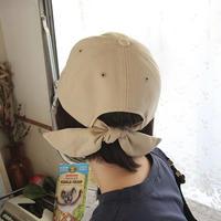 バックリボンデザインが女性らしいおしゃれアイテム 後ろリボンローキャップ レディース バックリボン 帽子 cap 無地 スウェット コットン 女子 アウトドア 日焼け対策 TAGX11704