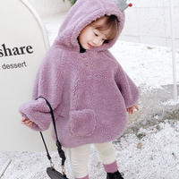 子ども服 アウター ボアジャケット トップス 女の子 フリース 韓国 子供服 おしゃれ かわいい ボア キッズ 防寒 ふわふわ もこもこ 冬服 送料無料 TAGX11927