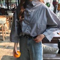 シャツ 通勤通学 デート カジュアル 羽織 韓国ファッション レディース トレンド トップス 長袖 ワイド袖TAGX10770