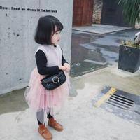韓国子供服 女の子ノースリーブ ワンピース ドレス チュールスカート パーティー 子ども 結婚式 二次会 ワンピース ピンク グレー キッズ ジュニア 送料無料 TAGX11466