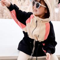 韓国子供服 キッズ スポーティー パーカー 女の子 男の子 安い 激安 オリジナルブランド ピンク ブラック ホワイト ランニング スポーツ着 新品 綿 長袖 カジュアル ベビー TAGX12021