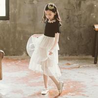 キラキラチュールワンピース ワンピース 女の子 韓国子供服 子ども服 子供服 ひざ丈 チュールスカート 半袖ワンピース キッズ ワンピ 刺繍 可愛い オシャレ送料無料 TAGX11740
