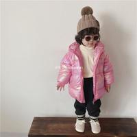 韓国子供服中綿コート ロングコート 女の子 キッズ もこもこコート  パーカー アウター 秋冬 厚手 防寒 保温 可愛い 中綿コート ピンク ホワイト 90-130cm  送料無料 TAGX11909