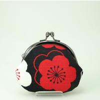 2.6寸丸小銭入れ 梅  赤 黒色