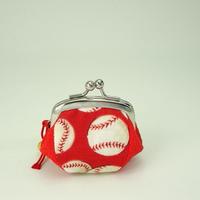 1.7寸四つはぎ(鈴付き) 野球ボール 赤色