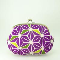 5.5寸クシポーチ 麻葉 紫色