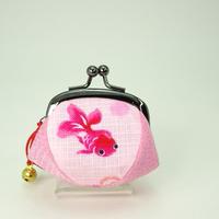 1.7寸四つはぎ(鈴付き) 金魚 ピンク色