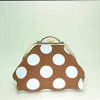 4.0寸台型ポーチ 帆布水玉 チョコミント色